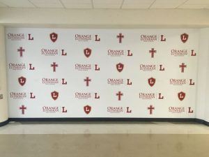 Palm Beach County Church Signs custom wall vinyl step repeat mural 300x225