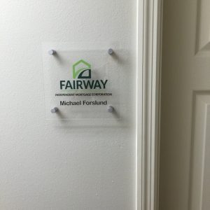 custom acrylic room id sign